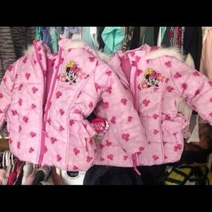 Toddler Girl Minnie Mouse Winter Jacket